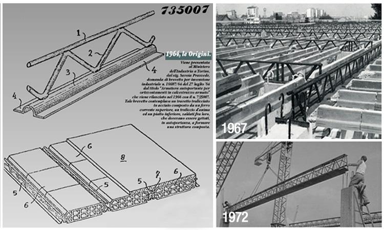 La storia delle travi e del sistema prem progetto prem for Planimetrie di pontili e travi